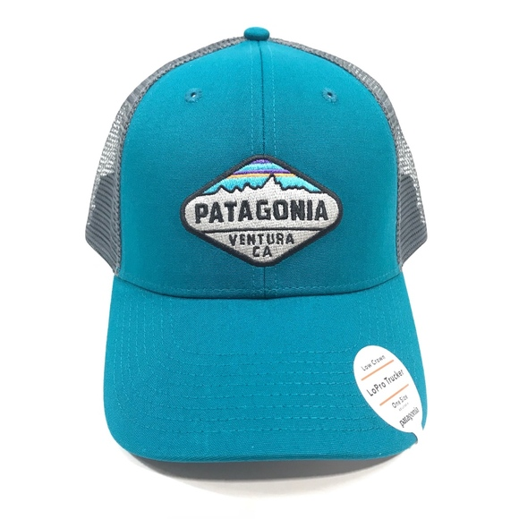 Patagonia Fitz Roy Crest LoPro Trucker Hat - Green 944bf37ff18f